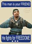 He fights for FREEDOME by SuddenlyNixon