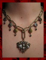 Steampunk Bumblebee Necklace by TheCrimsonCrow