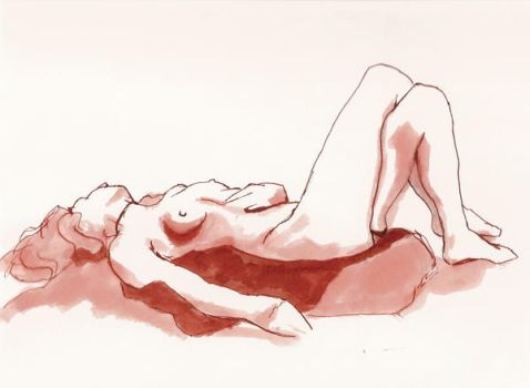 nude lying down by cannibal-disease