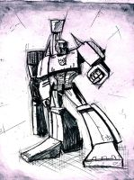 Megatron sketch by dcjosh