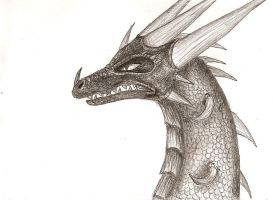 Pencil dragon school doodle by IcelectricSpyro