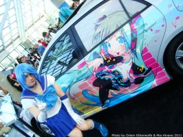 AX 2011 - Sailor Mercury + Car by MiaHinano