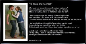 To Taunt and Torment by VisualPoetress