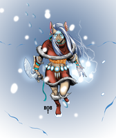 Christmas'y version of Luna Coldbane by RobTorres