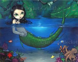 Mermaid in Her Grotto by jasminetoad