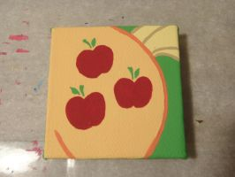 MLP Apple Jack Mini Painting by Sorenli