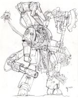 Techmarine Inquisitor: sketch by blackswordsman28
