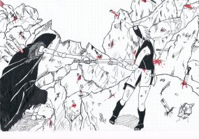 Sakura vs Sasori by Kiba1515
