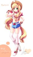 [MLP]Applejack of moe anthropomorphism by SakuranoRuu