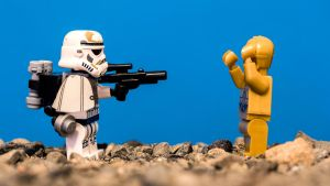 C-3PO and the Trooper by Once-Around-the-Sun