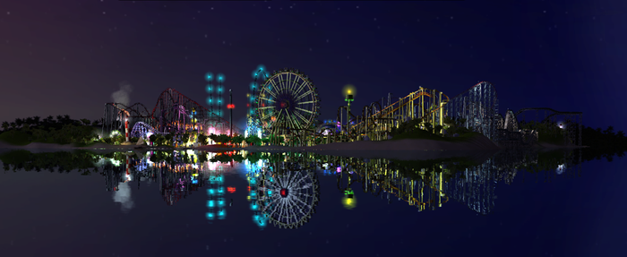 Pelican Island Night - RCT3 by Leadfoot17