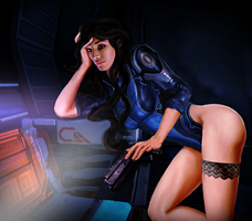 Let me take care of your gun Shepard by TheLonelySeeker