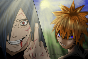 Crazy Madara and Naruto by TRANSFORUA