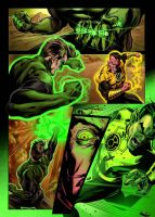 Green Lantern Vs. Sinestro colored by JoeTromundo