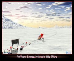 When Santa Missed His Ride by myrkymyrk