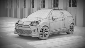 Citroen DS3 Racing 3D Wire by pierre-allard