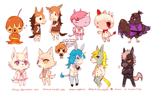 acnl -- Townsfolk by onisuu