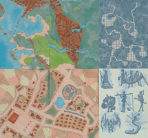 ACEO Dungeons and Dragons Maps for Roleplay Games by serbus