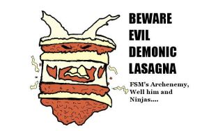 Evil Demonic Lasagna by soundofthebeating
