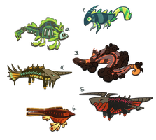 Fish Adoptables 2 CLOSED by Stormful
