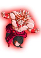 Red Lantern Broly by Lord-Lycan