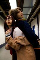 Steins:Gate 11 - Back to back by simakai