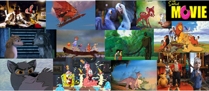 My Fav. animated movies screenshot collage part 1 by Sonic2125