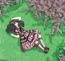 Sleeping Under the Flower Tree by JadenFLAWLESSx