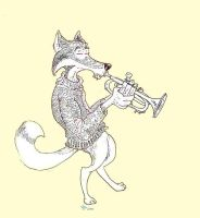 wolf plays the blues by tptrsn