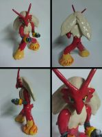 Blaziken Sculpture Multi View by Sara121089