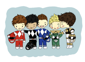 Power Rangers 1D by ItsDaniDee