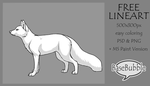 .: FREE Fox Lineart : PSD+PNG+MSPaint :. by BaseBubble