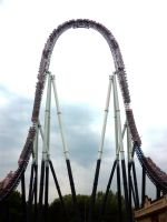 Stealth Rise-Rise-Rise Drop-Drop-Drop, Thorpe Park by ggeudraco