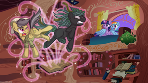 Daring Do and the Curse of the Killer Kelpie by serenamidori