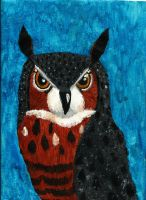 Great Horned Painting by Aryncoryn