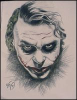 Heath Ledger as the Joker. by SandOfSahara