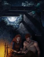 Commission: Rhona and Iorveth by barn-swallow