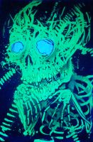 fragment skelleton under blacklight by GLoeNn