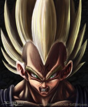 Vegeta from Dragonball by AtomiccircuS