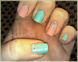Pastel Dot Nails by KookylmhNails