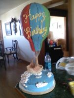 3D Hot Air  baloon Cake by TheGid