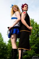 Fairy Tail - Lucy Heartfilia and Natsu Dragneel by pure-faces