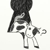 Cow in a keyhole by Cow-In-A-Keyhole