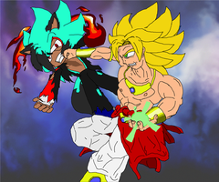 Blitz Vs Broly V1 by FrostBurned-Soul