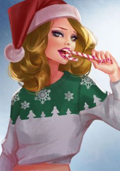 Christmas girl by Lagunaya