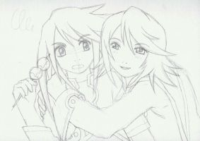 Sketch Genis vs. Raine by Dayu
