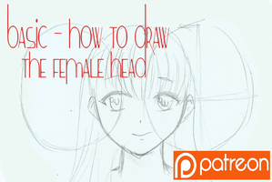 basic - how to draw the female head by Pammella