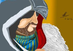 Ezio Colored by kenchinblade