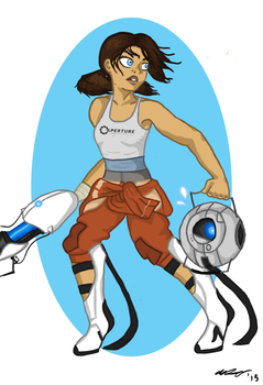 there she is miss aperture science by dusthymns