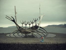 Rainbow Dash at the Sun Voyager, Reykjavik by TheSunAndTheRainfall